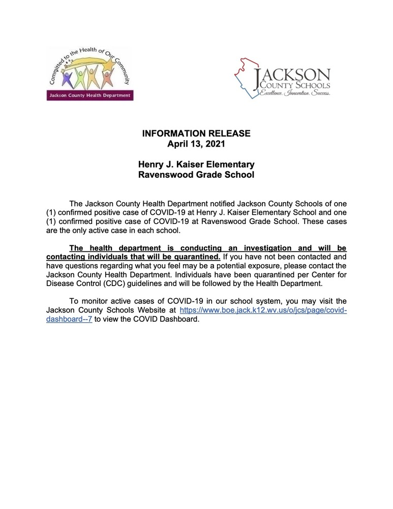 Information Release - HJK - Ravenswood Grade - April 13, 2021