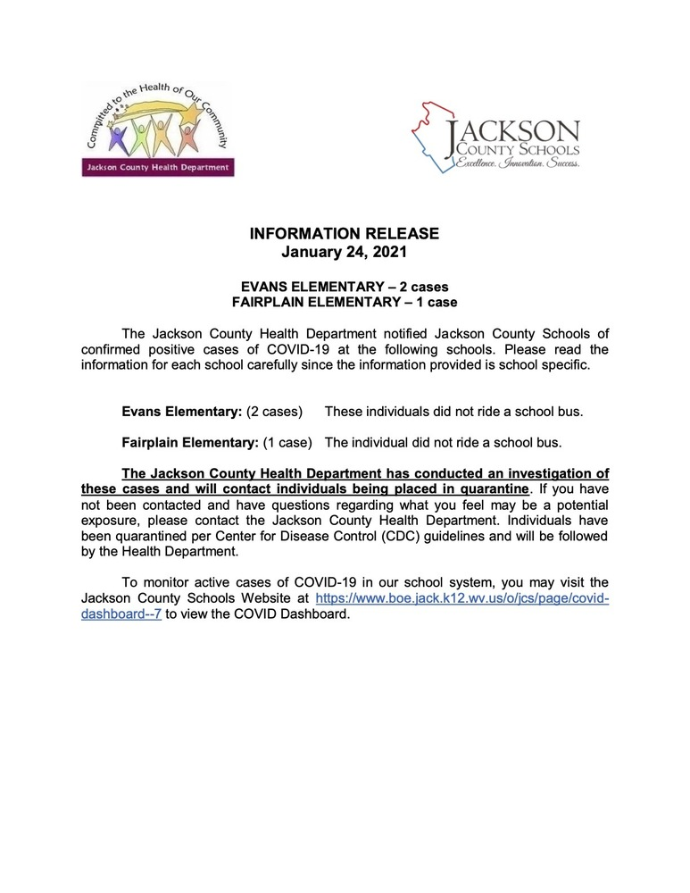 Information Release - January 24, 2021 - Evans - Fairplain