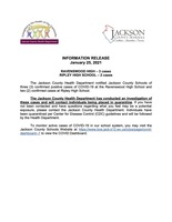 Information Release - January 25, 2021 - Ravenswood and Ripley High Schools