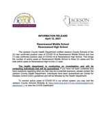 Information Release - Ravenswood Middle School - Ravenswood High School - April 12, 2021