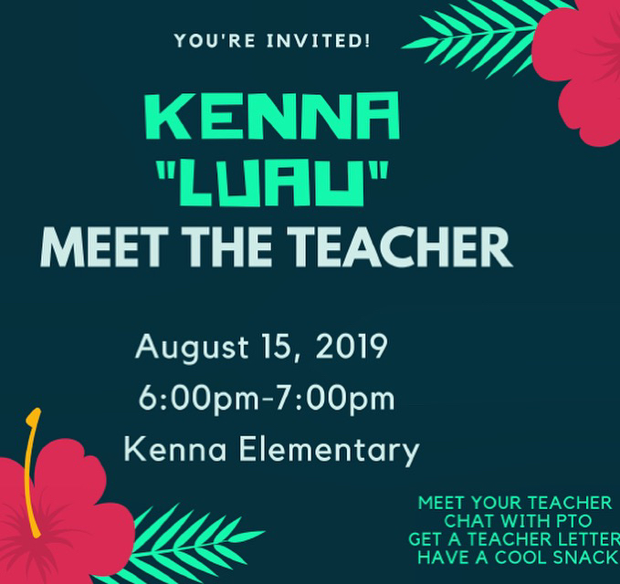 Kenna Elementary School's Meet the Teacher Information