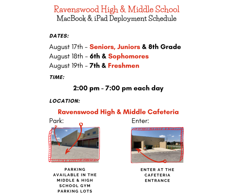 Ravenswood High MacBook Deployment Dates & Information